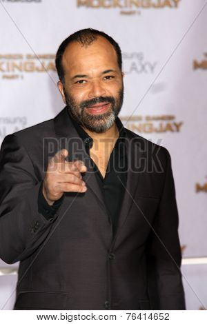 m LOS ANGELES - NOV 17:  Jeffrey Wright at the The Hunger Games: Mockingjay Part 1 Premiere at the Nokia Theater on November 17, 2014 in Los Angeles, CA