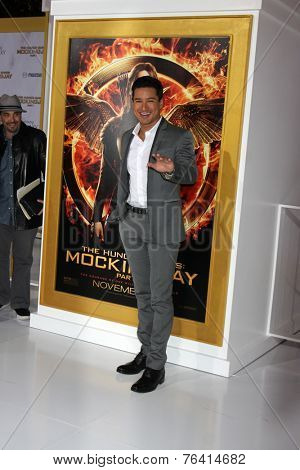 m LOS ANGELES - NOV 17:  Mario Lopez at the The Hunger Games: Mockingjay Part 1 Premiere at the Nokia Theater on November 17, 2014 in Los Angeles, CA