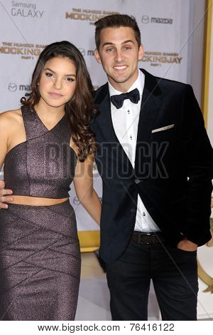 m LOS ANGELES - NOV 17:  Alexys Gabrielle Johns, Cody Johns at the The Hunger Games: Mockingjay Part 1 Premiere at the Nokia Theater on November 17, 2014 in Los Angeles, CA