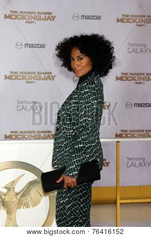 m LOS ANGELES - NOV 17:  Tracee Ellis Ross at the The Hunger Games: Mockingjay Part 1 Premiere at the Nokia Theater on November 17, 2014 in Los Angeles, CA