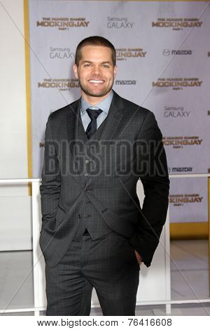 m LOS ANGELES - NOV 17:  Wes Chatham at the The Hunger Games: Mockingjay Part 1 Premiere at the Nokia Theater on November 17, 2014 in Los Angeles, CA