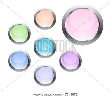Buttons In Pastel Colors