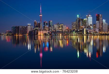Toronto City Skyline Reflection