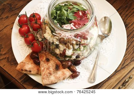 Mixed Salad with decoration
