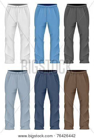 Men's sweatpants. Vector illustration.