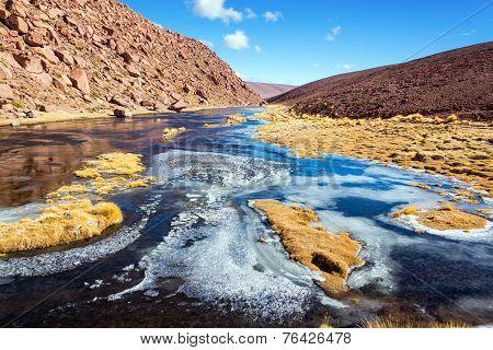Frozen Stream In Chile