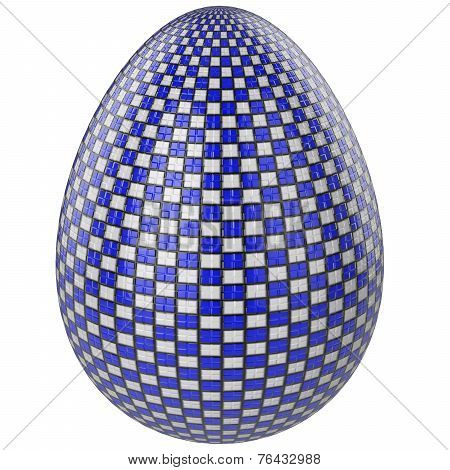 Easter Egg White And Blue