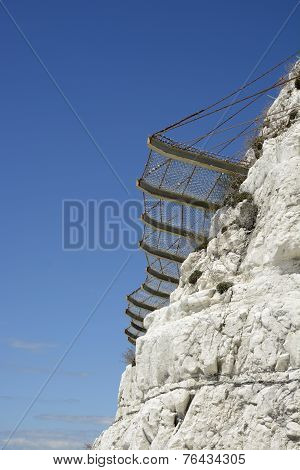 Safety Netting For Rock Falls. Brighton. England