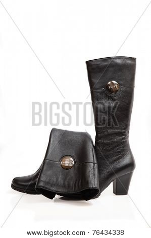 demi shoes on white background