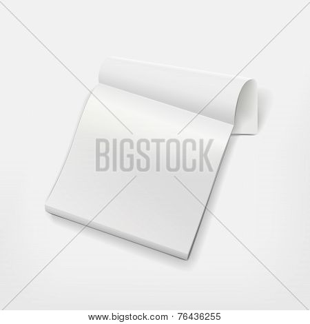 Blank Wall Calendar Isolated On White