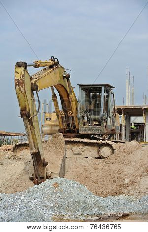 Old Excavator Machine for earthwork