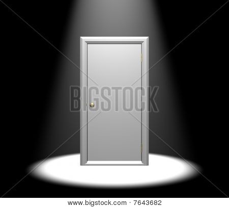 Door In Spotlight
