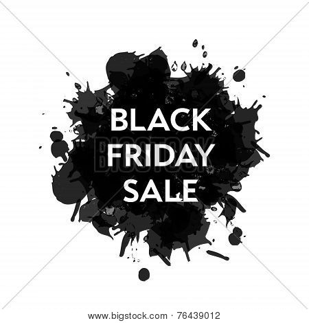 Black Friday Sale blot icon. White background.