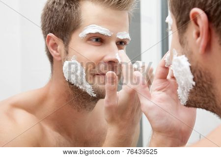 Morning Hygiene In The Bathroom