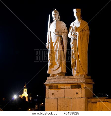 Statues Of King Stephen I And Queen Gisela
