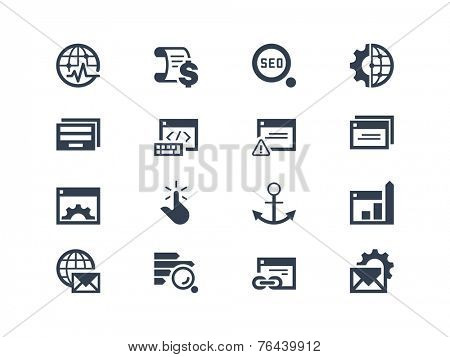 SEO. Search engine and optimization icons