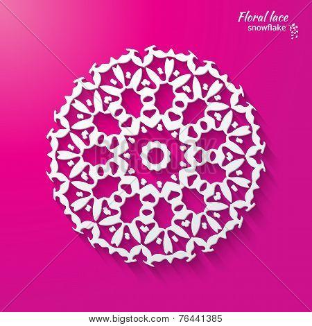 snowflake, flower, folk style.