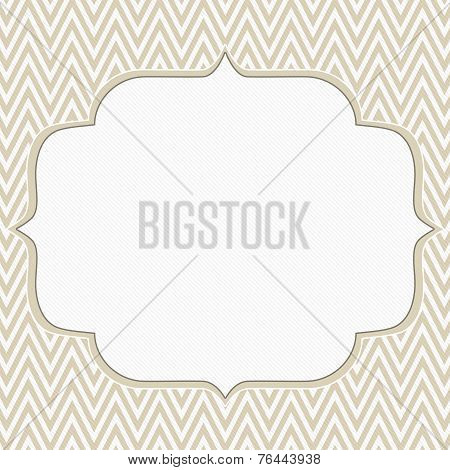 Beige And White Chevron Zigzag Frame Background