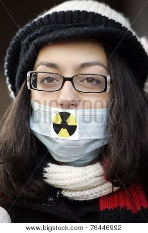Anti-nuclear Energy Protester