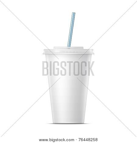 White paper soda cup template.