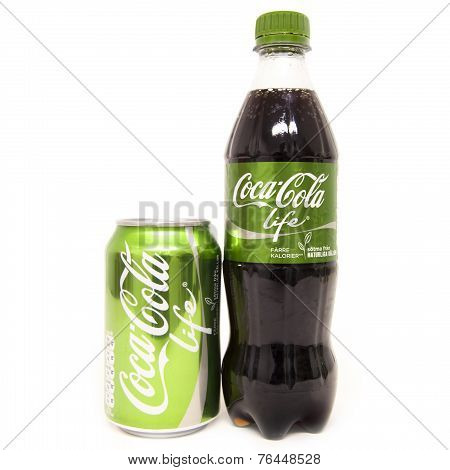 Coca Cola Life Can And Bottle