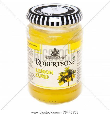 Robertsons Lemon Curd Jar