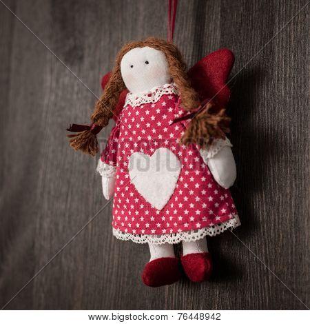 Vintage Girl Christmas Handmade Toy