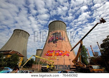 Graffiti On A Tower