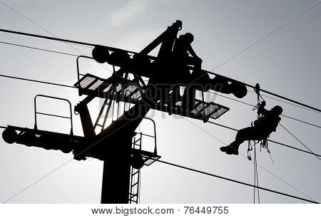 Cabin Lift Pillar Silhouette