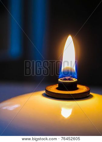 Oil lamp macro close-up