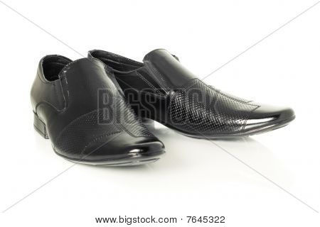 Patent-leather Shoes On White