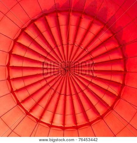 Inside of a hot air balloon