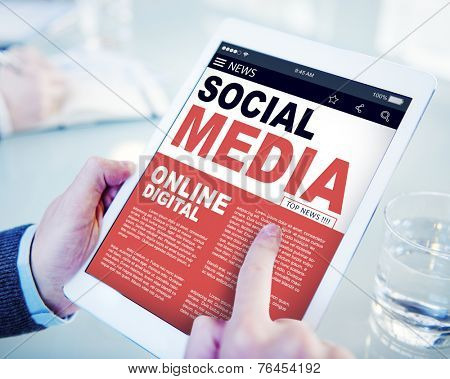 Digital Online Report News Social Media Concept