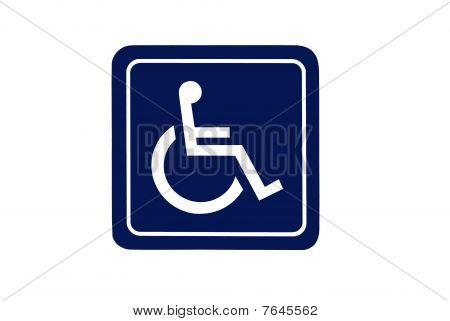 Dark Blue Handicap Sign