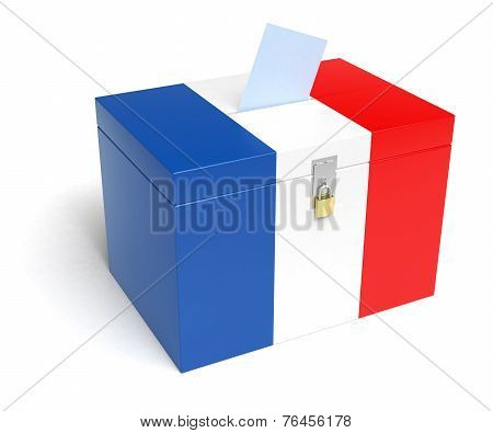 French Flag Ballot Box