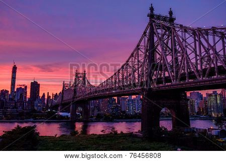 Magic sky over Manhattan