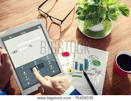 Digital Online VAT Business Tax Concept
