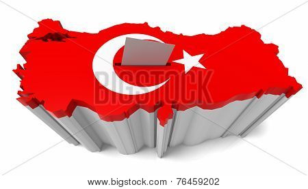 Turkish Map Flag Ballot Box