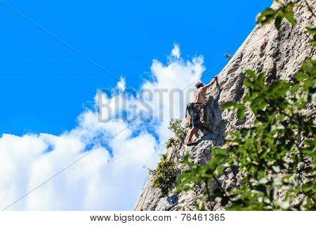 Mountaineer - mountain Nago-Torbole, Italy
