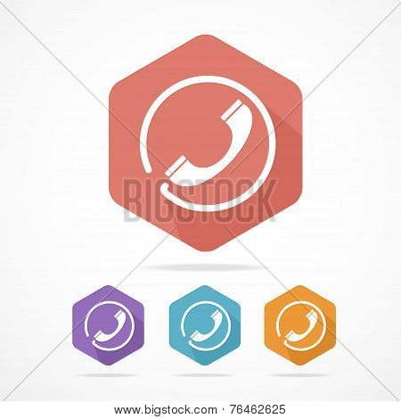 Phone Tube flat icons set