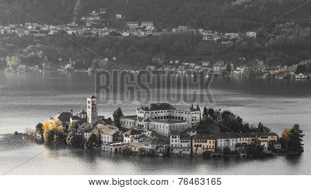 Island Orta St. Giulio, Piedmont