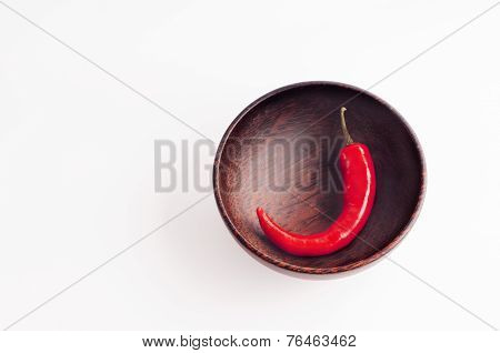Chili In The Wooden Bowl