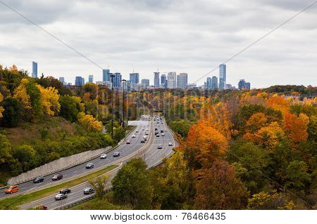 Cars On The Don Valley Highway