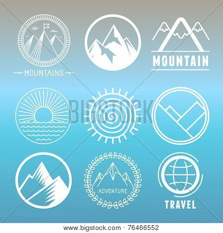 Vector Mountain Logos And Emblems