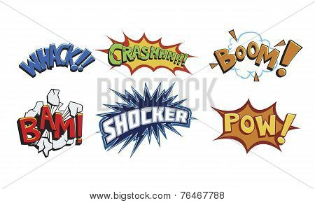 Comic book Action Words