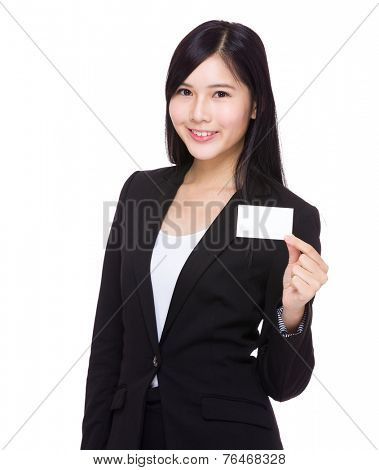Businesswoman hold with namecard
