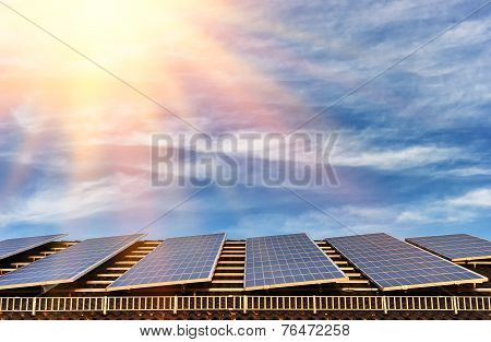 Alternative Energy With Solar Panel