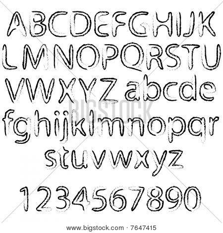 Black Abstract Alphabet