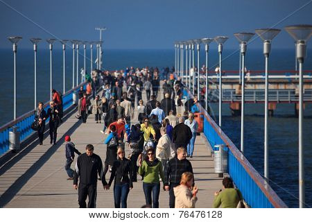 People Walking On The Palanga Pie