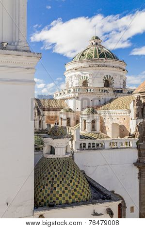 dome of La Compania church in Quito Ecuador South America